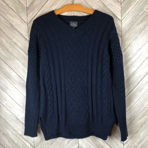 Market & Spruce Navy Sweater Size Small